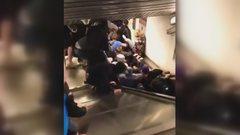 影/羅馬地鐵電扶梯暴衝 逾20傷、1人恐須截肢