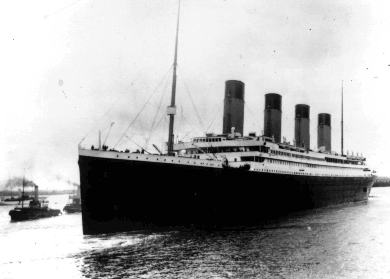 鐵達尼號1912年首航照,原計從英國南安普敦開往紐約。美聯社