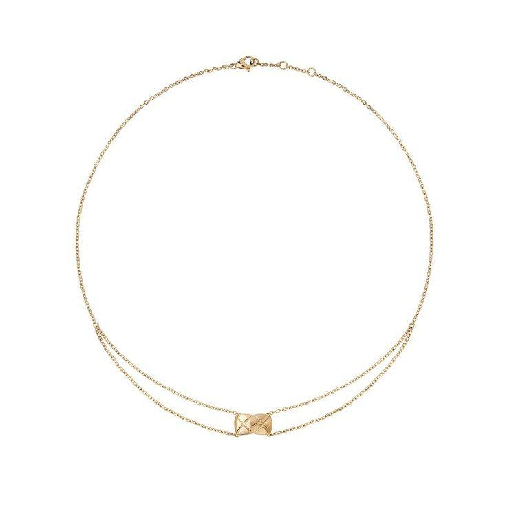 COCO CRUSH 18K黃金項鍊,85,000元。圖/香奈兒提供