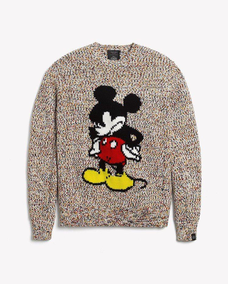 rag & bone X Micky Mouse多色羊毛混紡MICKEY長袖針織...