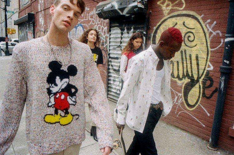rag & bone X Micky Mouse限量款式包括針織衫、襯衫與T恤等...
