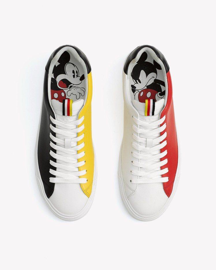 rag & bone X Micky Mouse三色拼接RB1低筒休閒鞋,售價1...