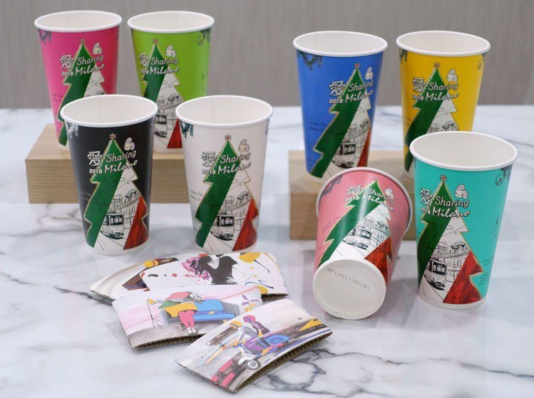 CITY CAFE即日起推出以米蘭主題「愛‧Sharing咖啡杯」,一共8色繽紛...
