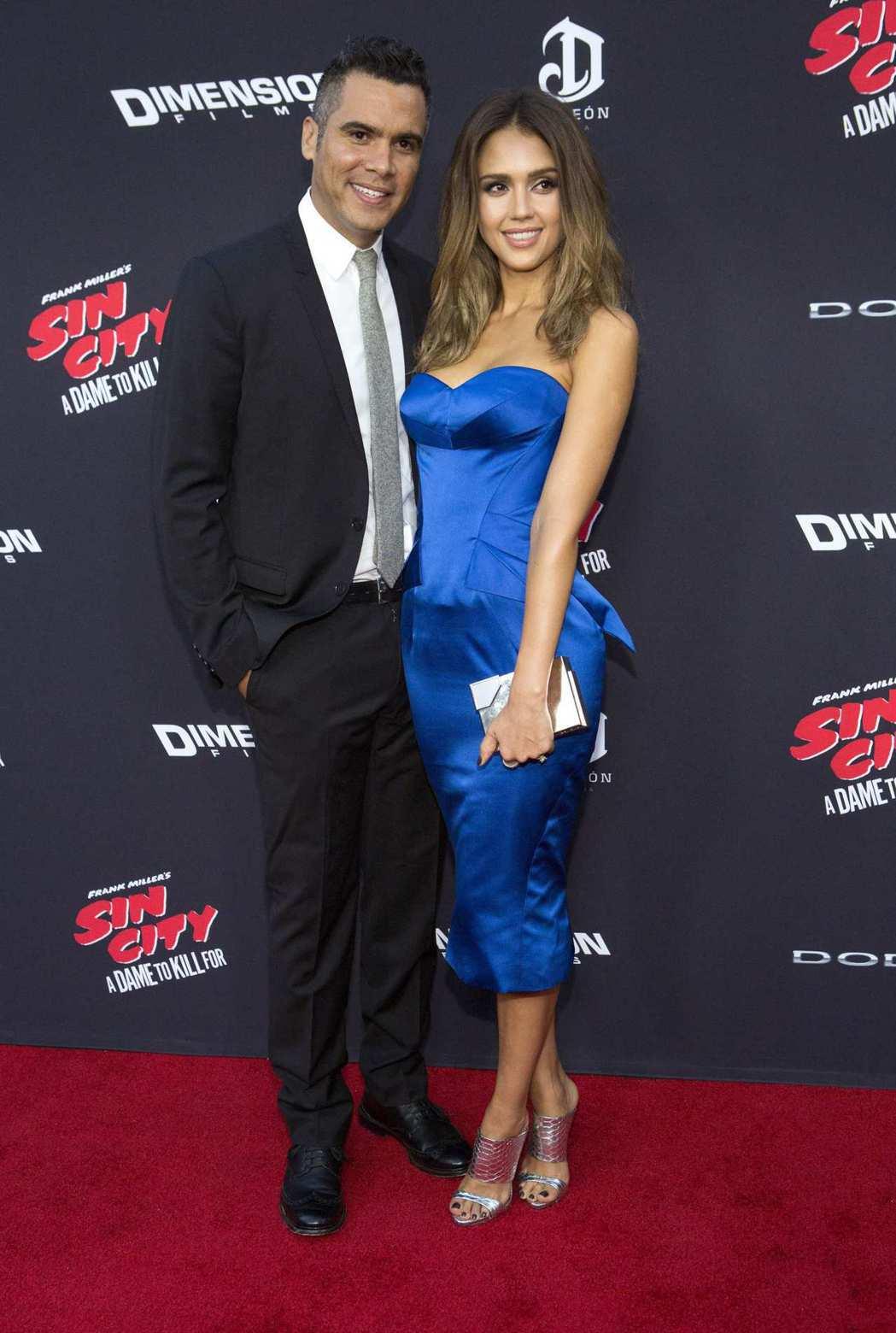 潔西卡艾芭與丈夫凱許華倫是娛樂圈的恩愛夫妻。圖/路透資料照片