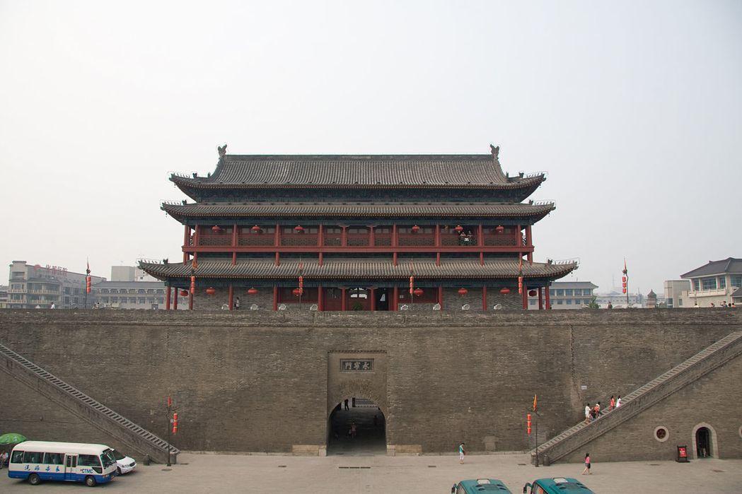永寧門是西安城牆一城門,現常叫做南門。 圖/摘自維基百科