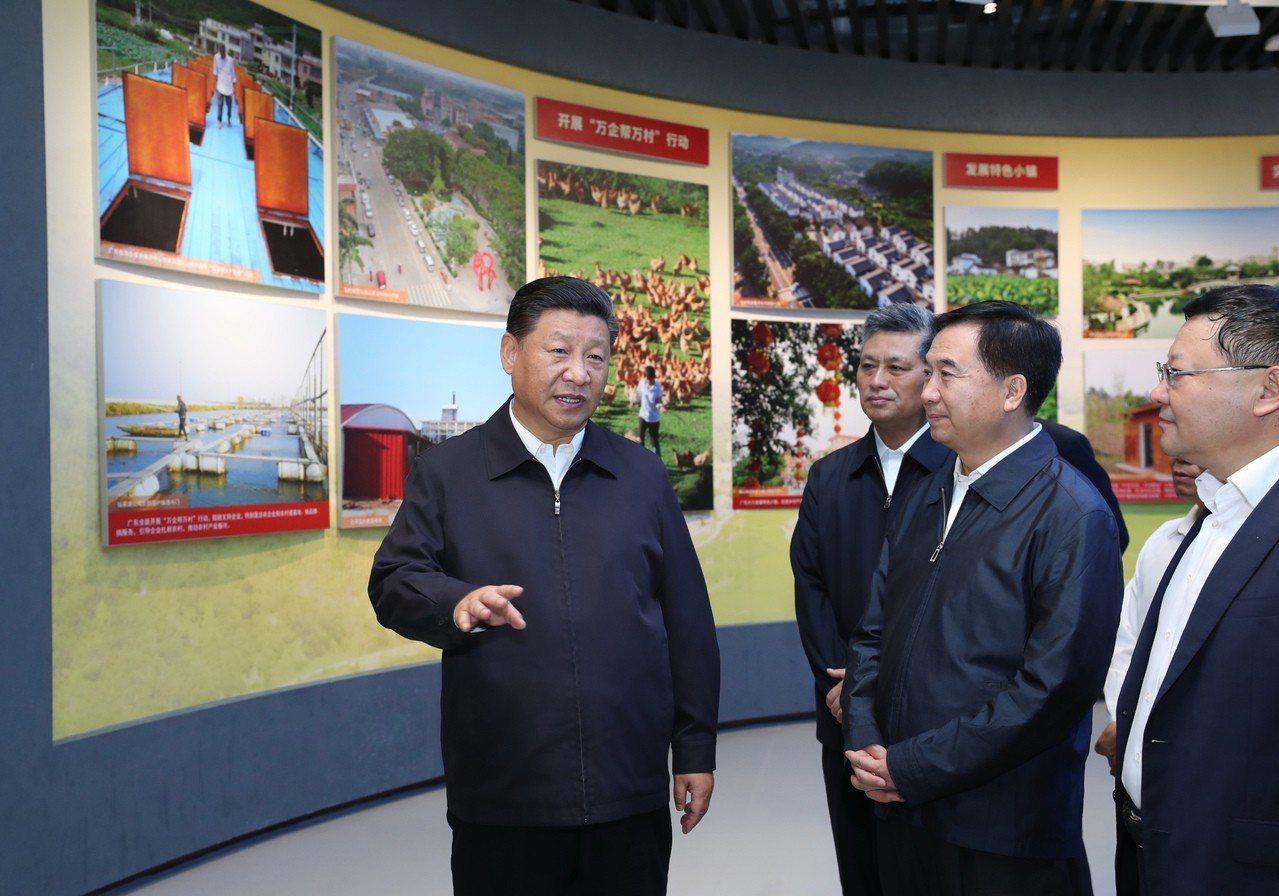 習近平表示自貿區要成新時代改革開放新高地。 新華社