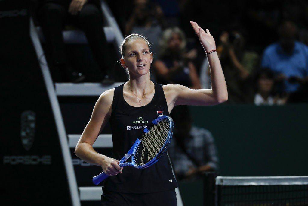 捷克女子高球選手普里斯科娃。 美聯社