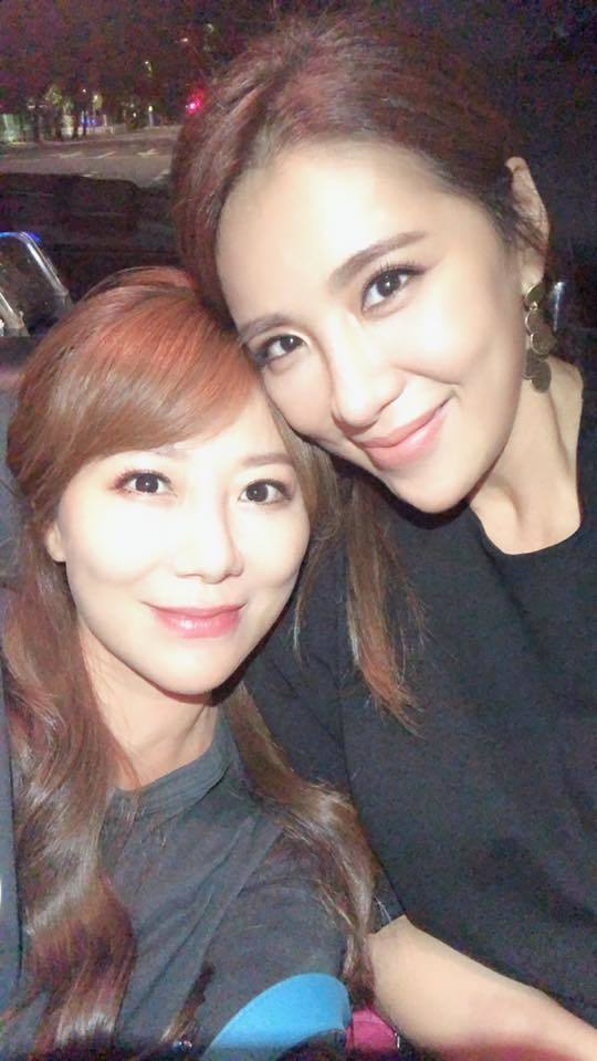 佩甄24日曬出與小禎的合照。圖/擷自臉書。