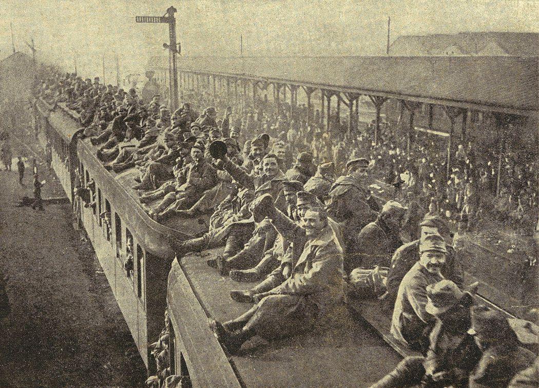 前帝都的德意志人這時才急就章地拼湊起德意志民族認同,想要臨時買票,搶搭「民族自決...