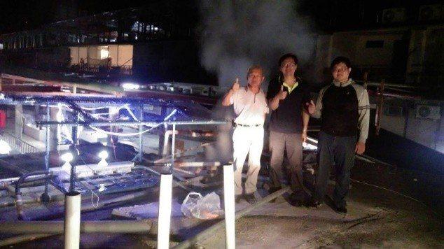 臺東大學與工研院共同研發的地熱溫泉發電系統已獲得溫泉業者肯定。 朱力民教授/提供...