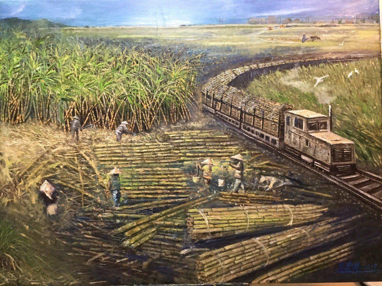 吳麗琴作品《四十年代回想故鄉異象》。 台灣輕鬆藝術博覽會/提供
