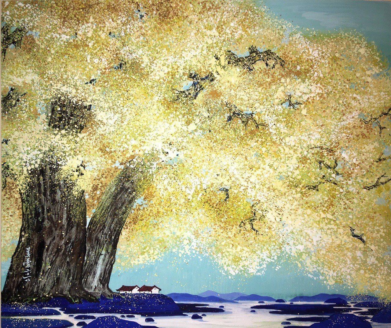 廖美蘭的作品《燦金》。 台灣輕鬆藝術博覽會/提供