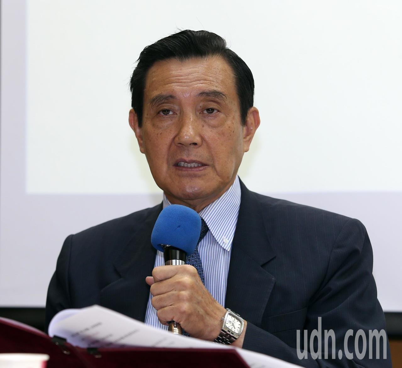 前總統馬英九(圖)上午出席「歷史教育新三自運動」記者會,由台師大東亞系退休教授潘...
