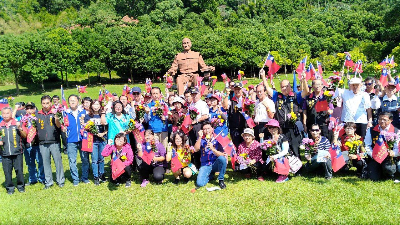 國民黨今天在兩蔣文化園區辦光復節活動。圖/陳學聖服務處提供