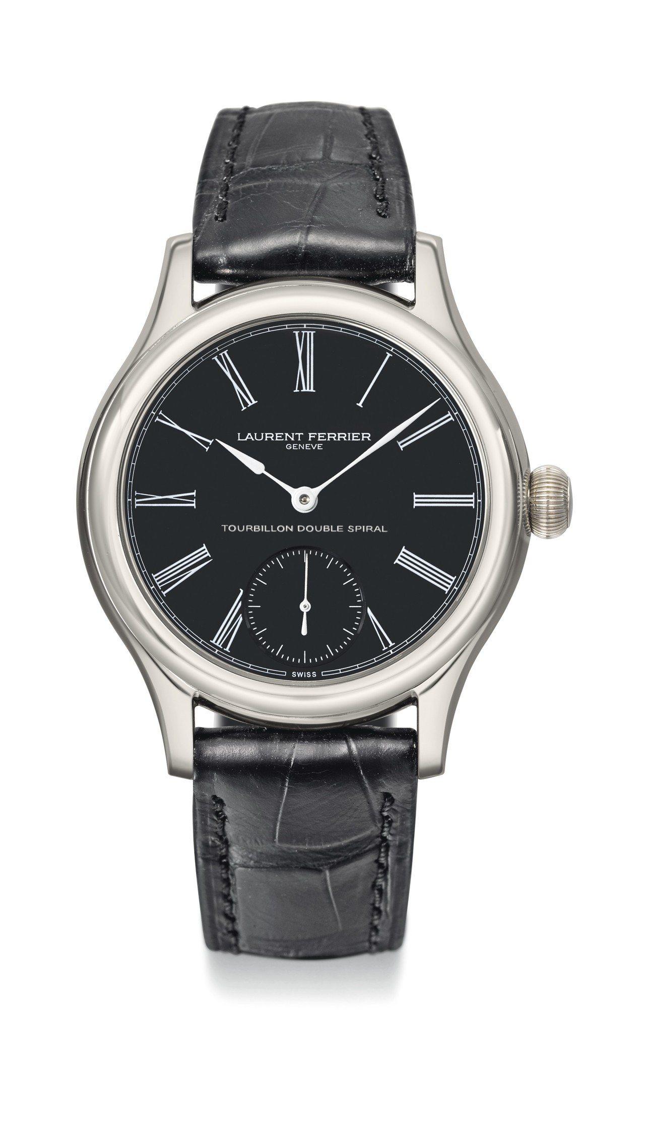 獨立製表師同名品牌Laurent Ferrier,黑瑪瑙表盤雙游絲陀飛輪腕表,約...