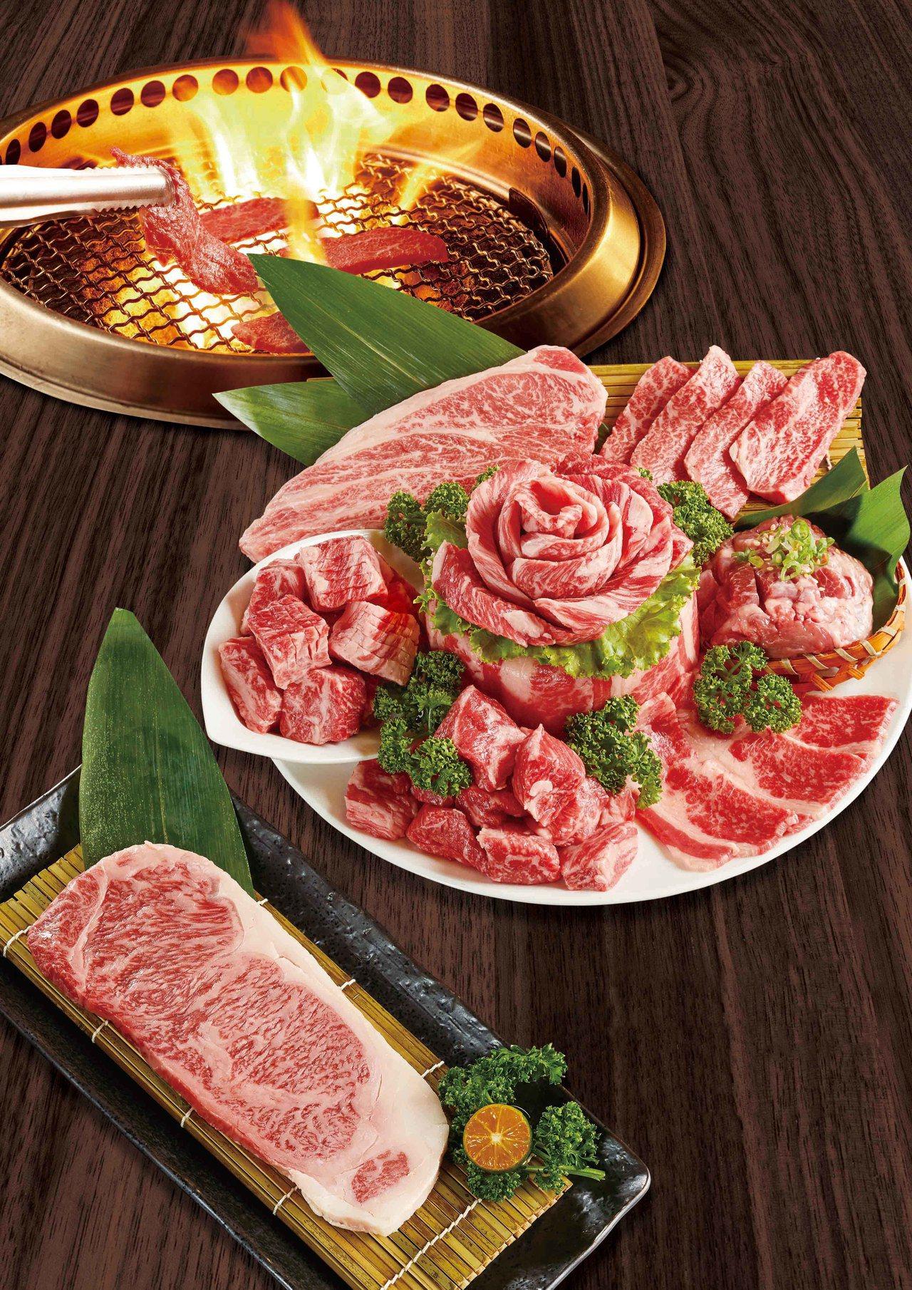 乾杯吃肉祭主打1kg重磅澳洲和牛組合,以及日本和牛紐約客。圖/乾杯提供