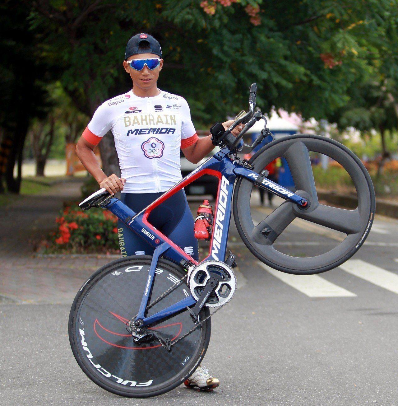 我國一哥馮俊凱這次登山王將抱病參賽。圖/中華民國自行車騎士協會提供
