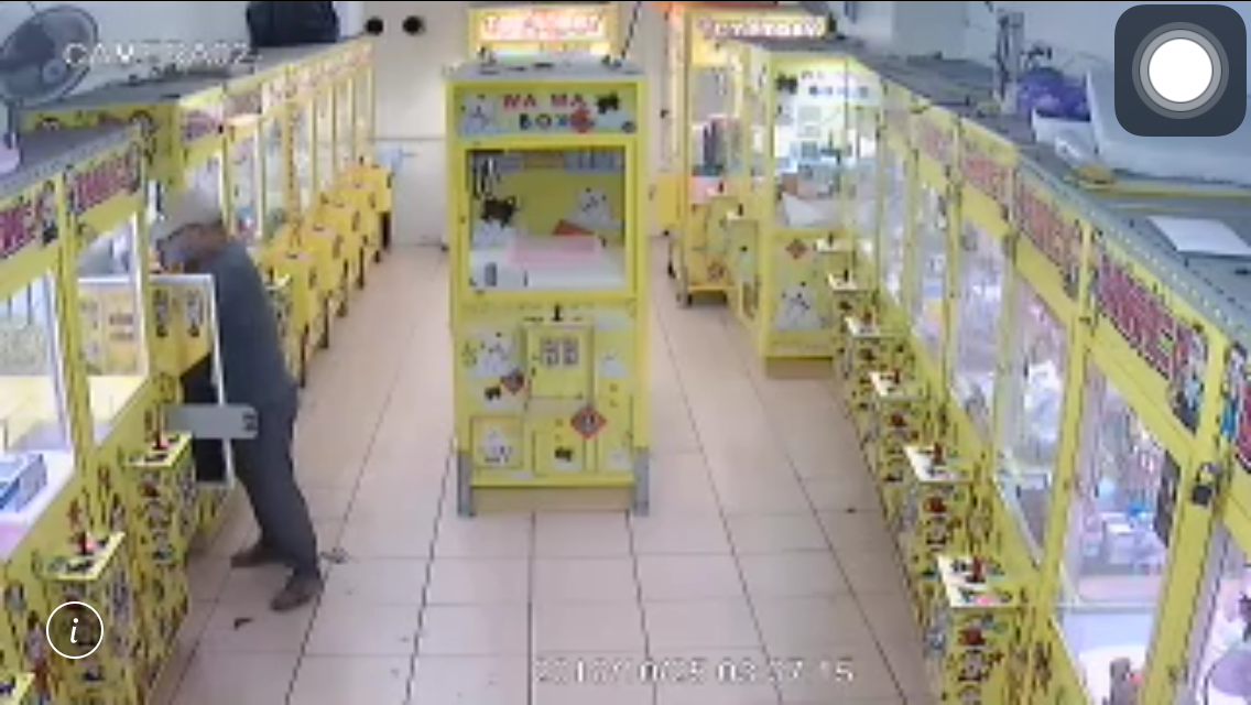 本月14日林姓嫌犯獨自在鶯歌區中正三路犯案。記者巫鴻瑋/翻攝