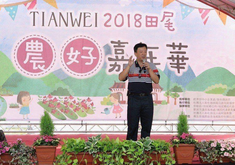 彰化縣田尾公路花園協會理事長李立宇。 蔣佳璘/攝影