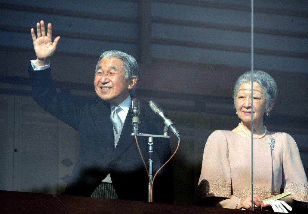 日本明仁天皇與皇后美智子。新華社資料照
