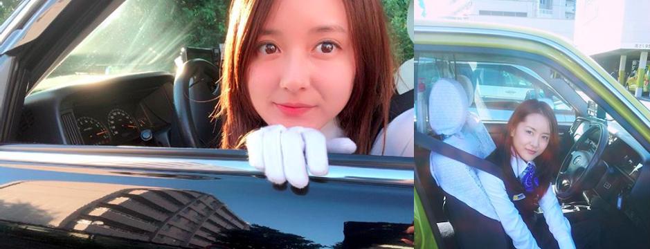 長相甜美的生田佳那有東京正妹司機的稱號。圖片來源 IG:生田佳那