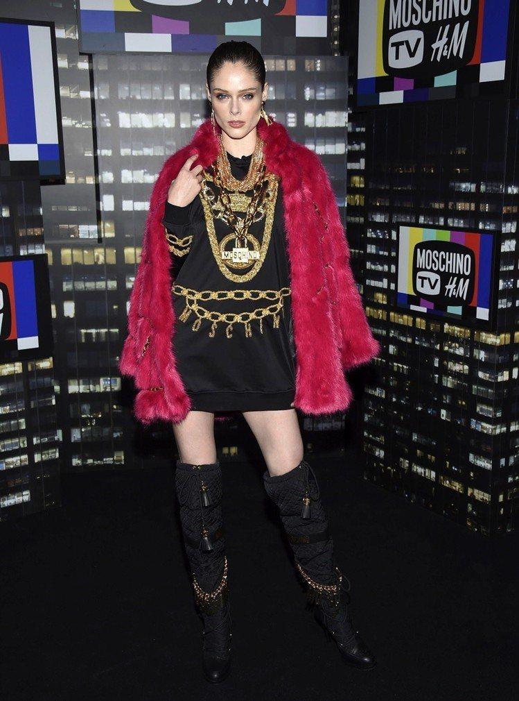 超模Coco Rocha。圖/美聯社