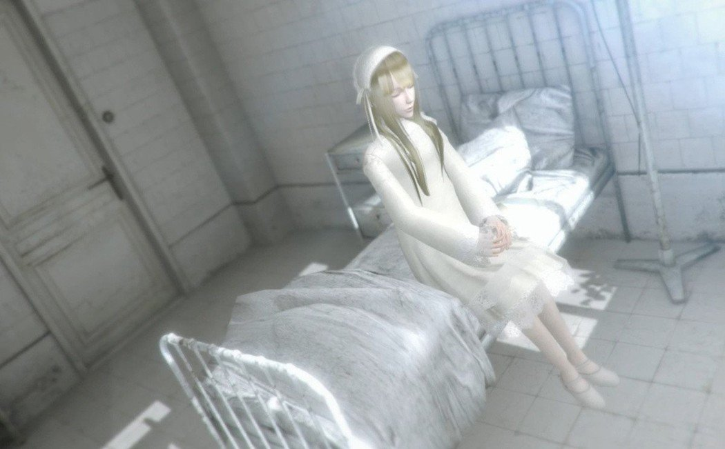 一身潔白無瑕的少女,她似乎只能躺在病床上,在她身上發生了什麼事呢?