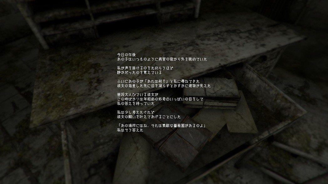 遊戲中會撿到許多文件與提示,其中裡面都包含很多弦外之音,很可惜目前此遊戲沒中文化...