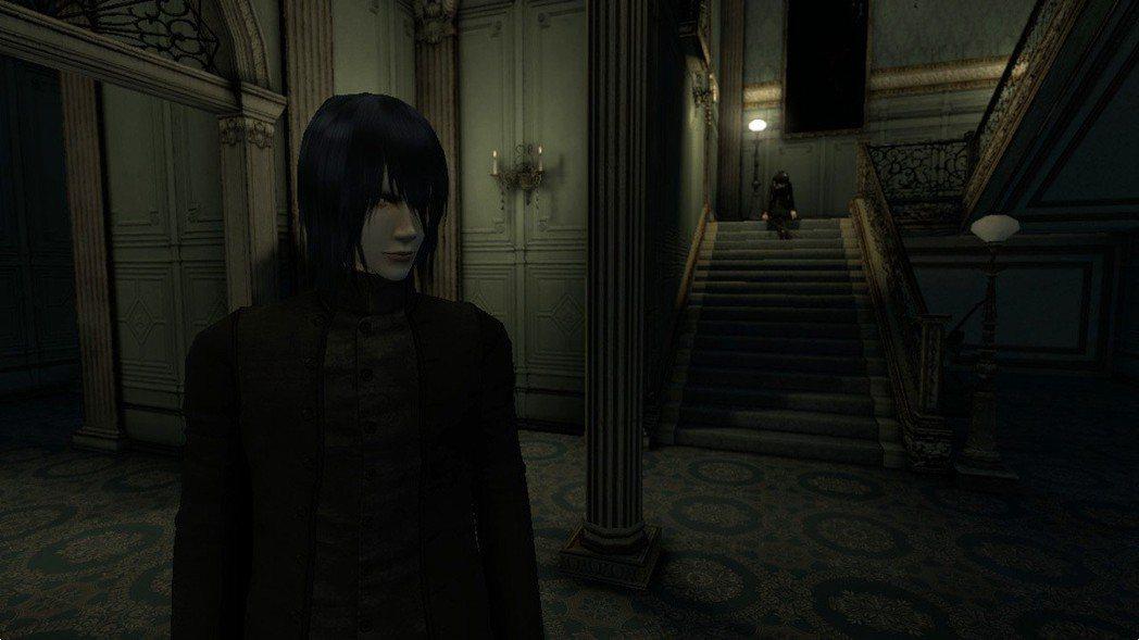 宛如迷宮般的大洋館裡頭,有位持劍的黑衣少女坐在樓梯上,該過去與她談話,還是趕緊逃...