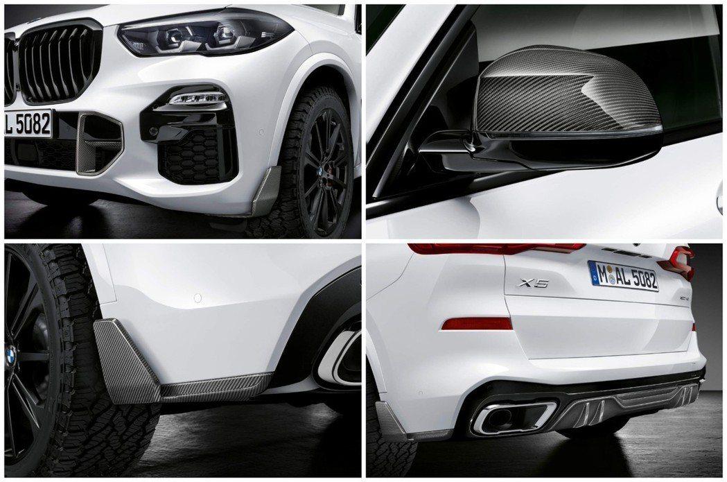 濃厚的碳纖維元素也在此次BMW X5 M套件之上。 摘自BMW