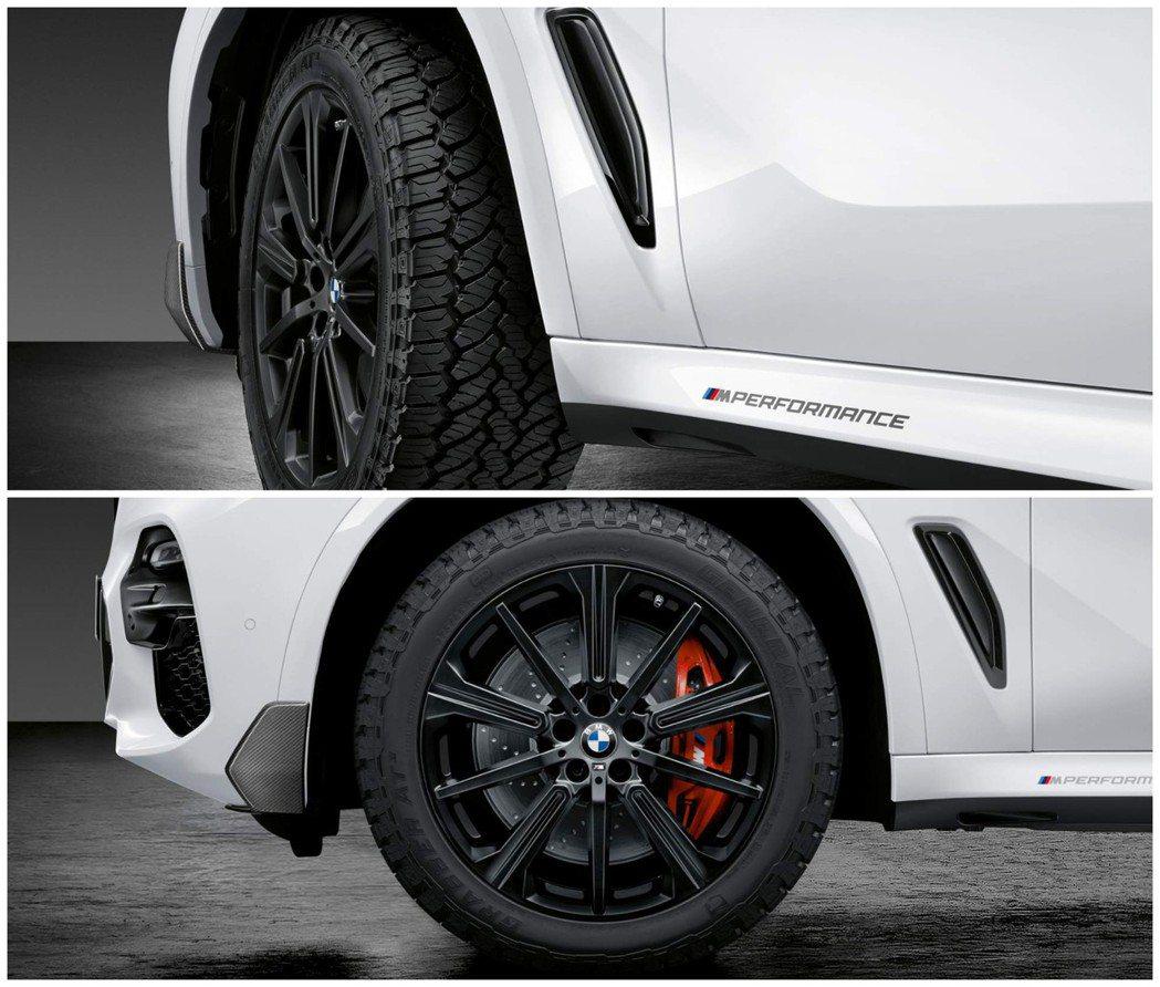 這次專屬新世代X5的M套件,可是首度採用了全地形胎。 摘自BMW
