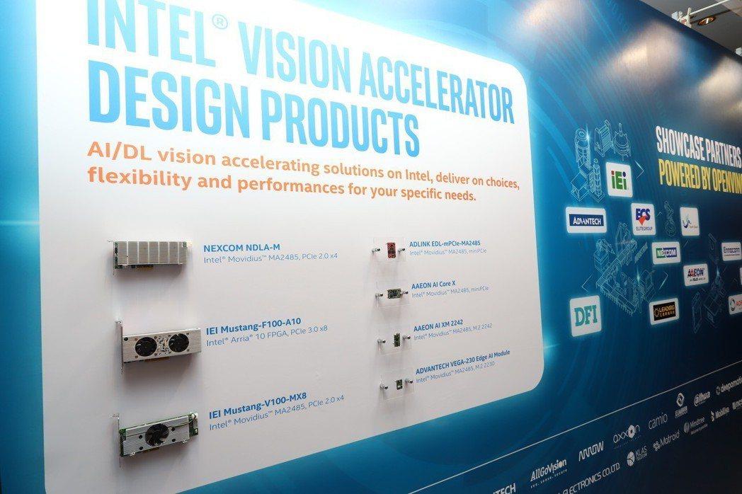 台灣ICT大廠以產品力挺英特爾。 彭子豪/攝影