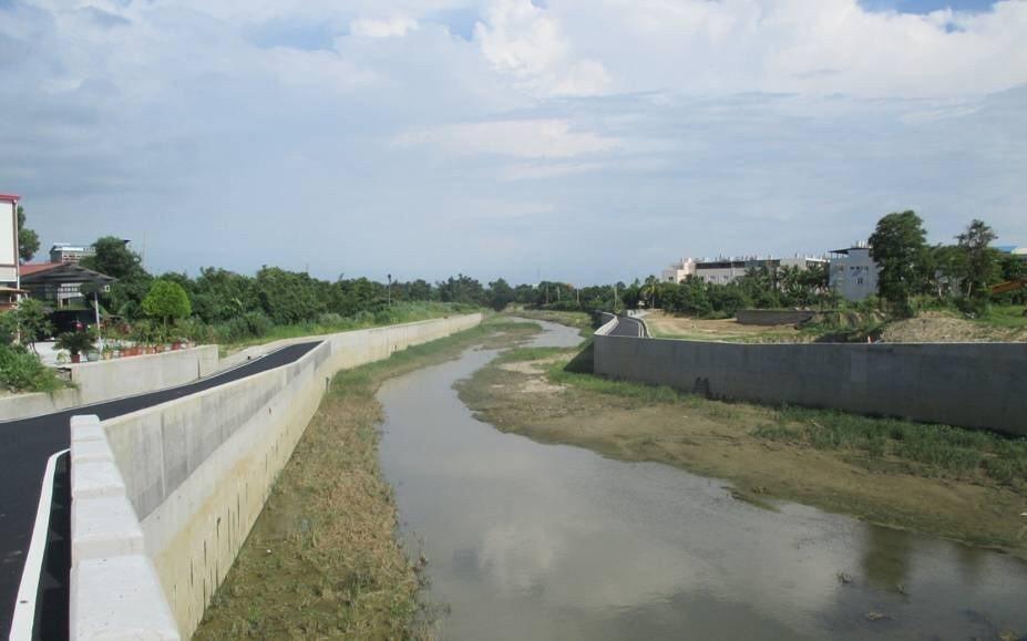 虎尾溪帝溪橋上游改善後。圖/台南市水利局提供