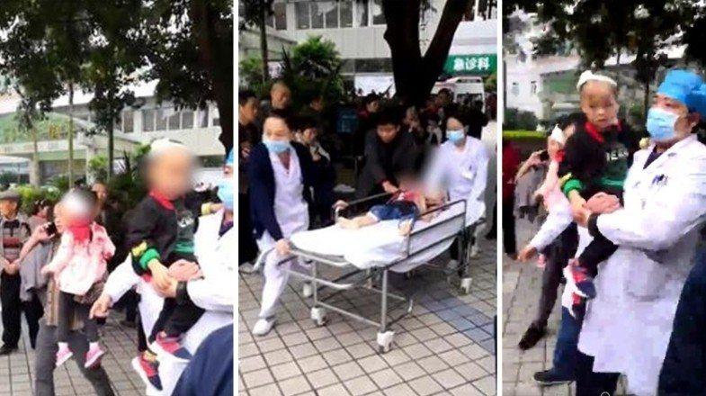 中國大陸再傳幼兒園遭攻擊事件。26日上午重慶一名婦人持菜刀闖入一間幼兒園內,將1...