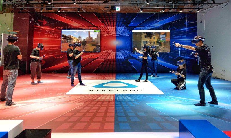 全台最大VR樂園今日正式在大魯閣草衙道盛大開幕。圖/HTC提供