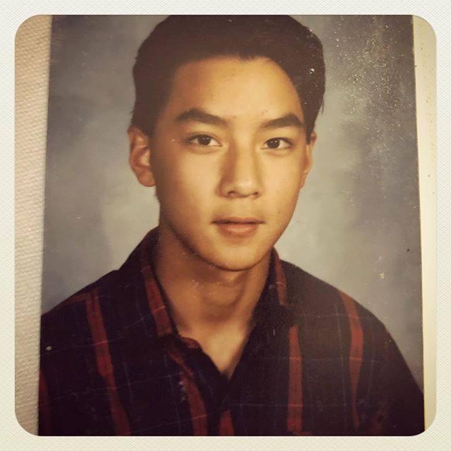 吳彥祖秀出16歲舊照。圖/摘自臉書