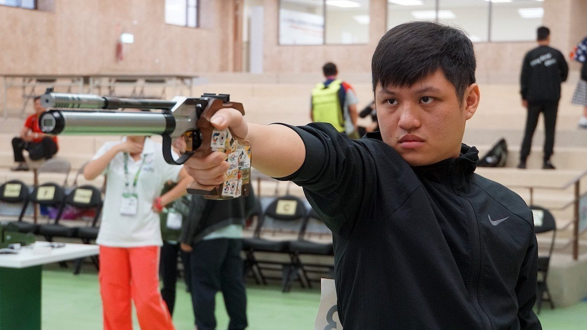 郭冠廷在男子10公尺空氣手槍逆轉奪金。圖/主辦單位提供