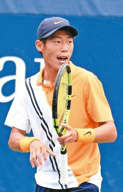 曾俊欣晉級ITF青少年名人賽四強。 本報資料照片