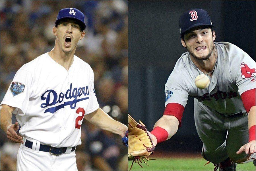 布勒(左)與班寧坦迪(右)是選秀同梯,兩人的好表現也證明道奇與紅襪不只會花大錢買...