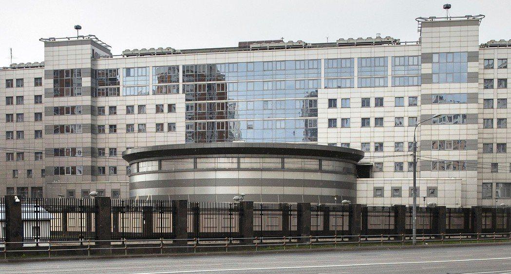 圖為俄羅斯聯邦軍隊總參謀部情報總局位於莫斯科的總部,近來俄國軍情特務身分一再曝光...