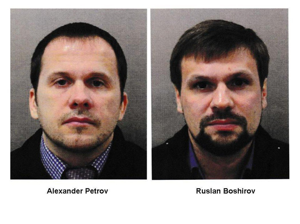 英國警方上月指控俄國特務裴卓夫(左)和波希洛夫(右)犯下3月的史柯里帕父女下毒案...