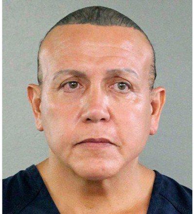 圖為56歲男子謝亞克(Cesar Sayoc Jr.)涉嫌寄發多個炸彈郵包給民主...