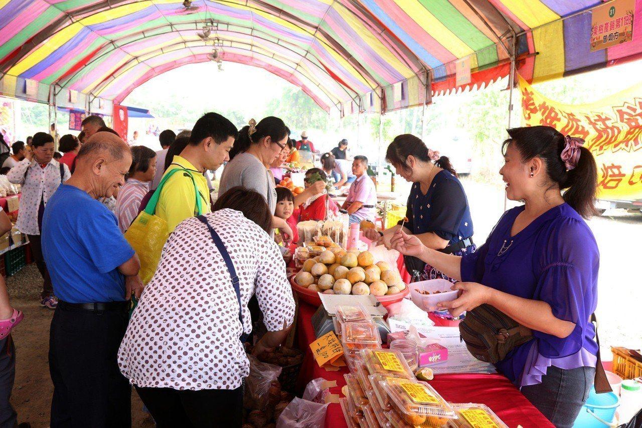 嘉義縣番路鄉農會27日起一連兩天在展售中心前舉辦柿子節活動,推廣行銷番路在地出產...
