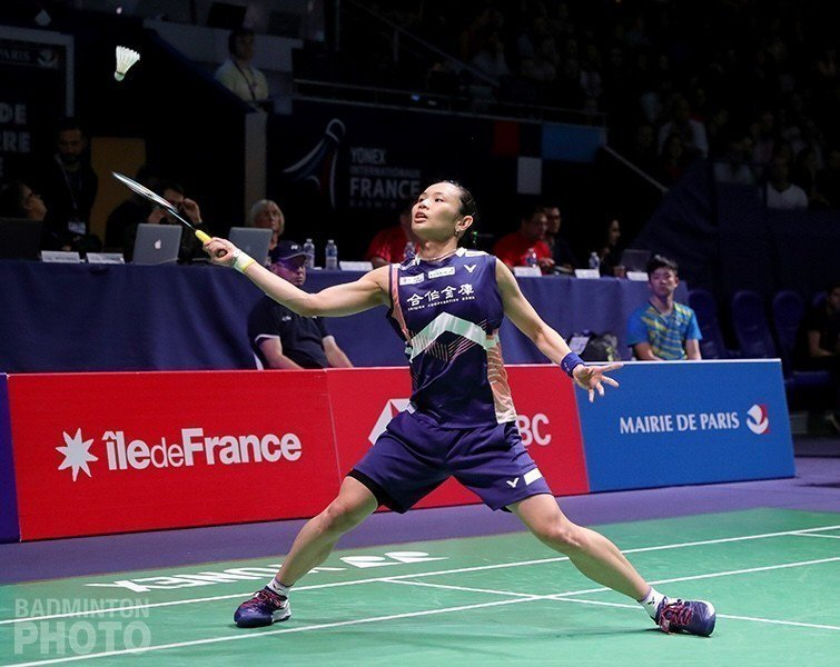 戴資穎在法國公開賽女單8強賽擊敗印度女將塞娜,挺進4強。圖/Badminton ...