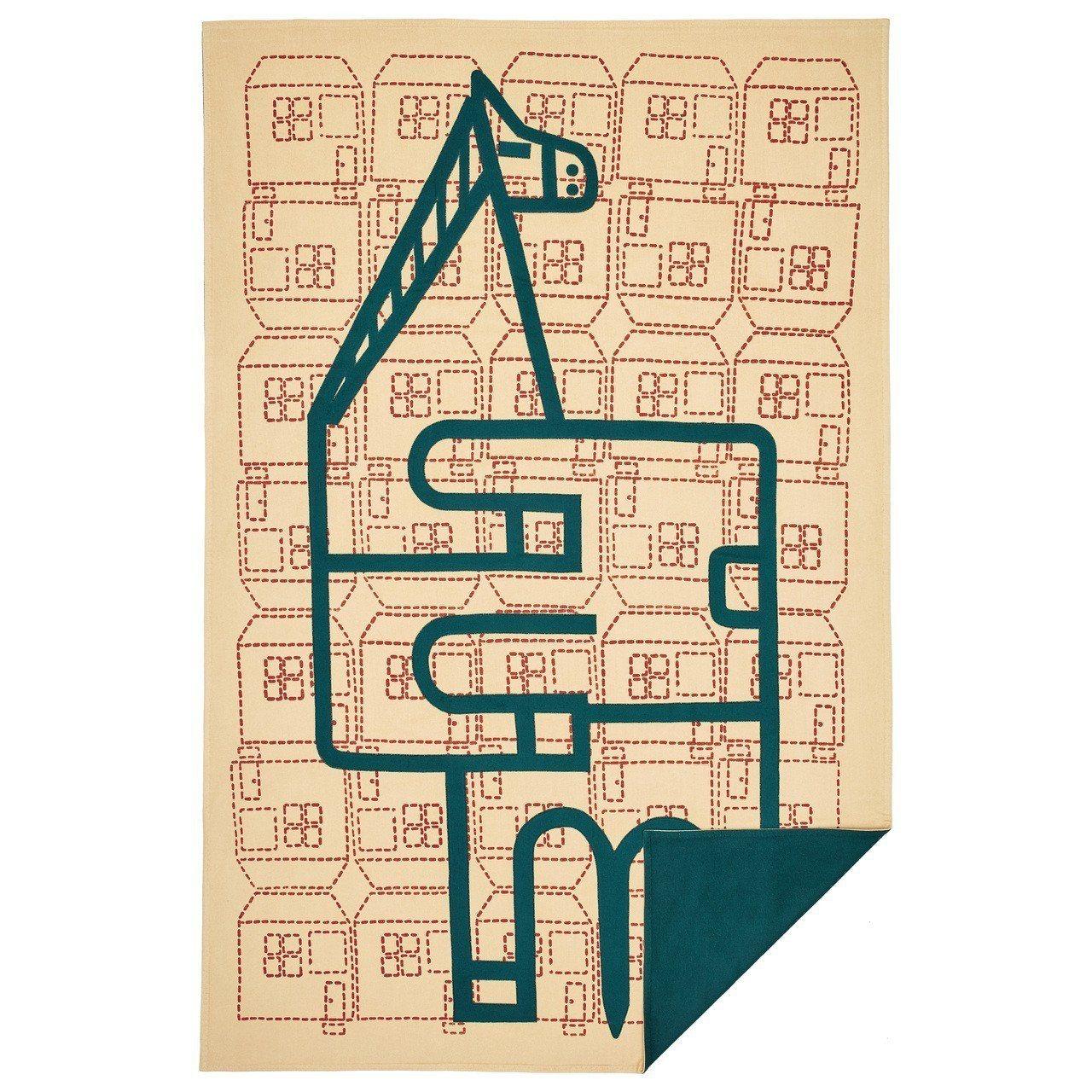 Orizaba圖紋珍稀刺繡限量款披毯。圖/愛馬仕提供