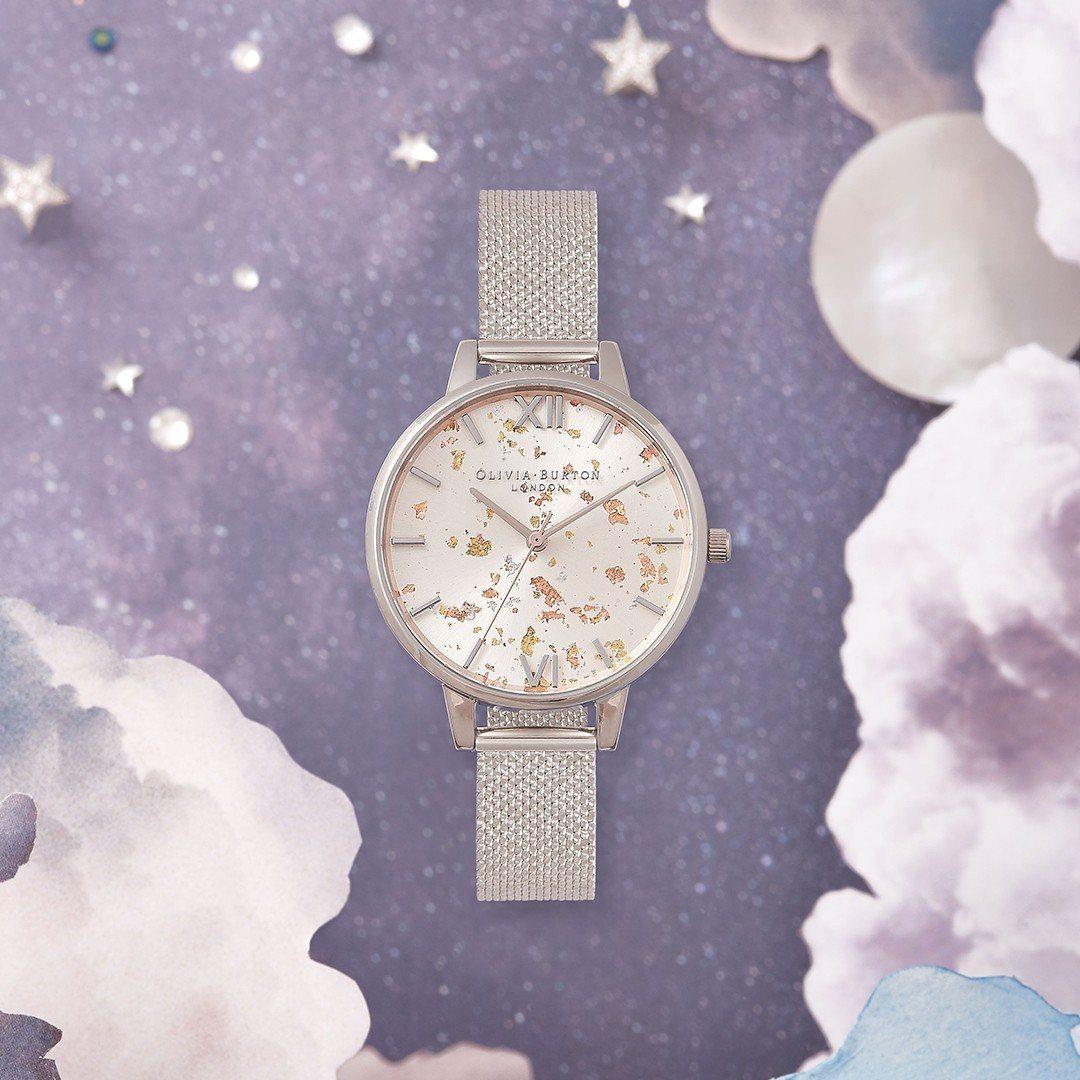 Olivia Burton Celestial系列 Silver Glitter...