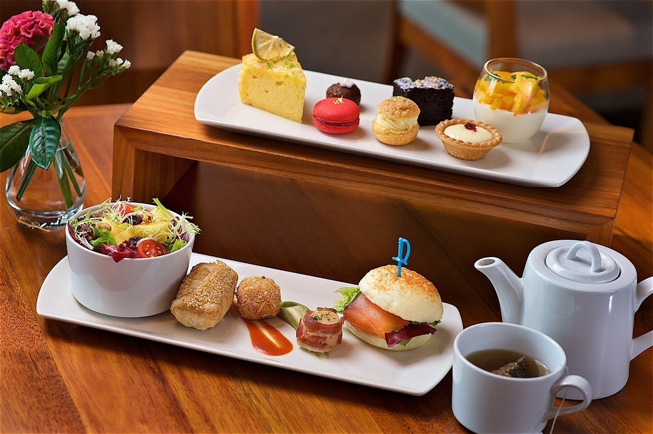 北投亞太飯店的綠漾下午茶。 圖/北投亞太飯店提供