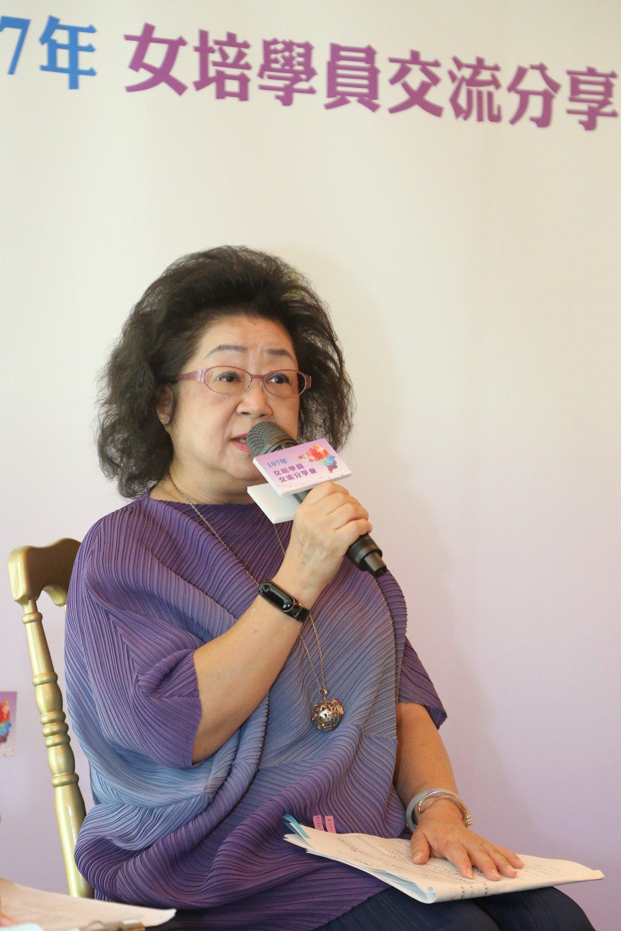 教育部次長范巽綠今天出席「大專女學生領導力培訓營」。圖/教育部提供