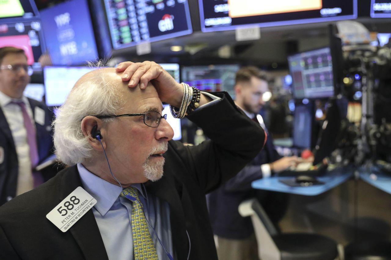 標普500指數正步入2009年2月以來最慘烈的一個月。法新社