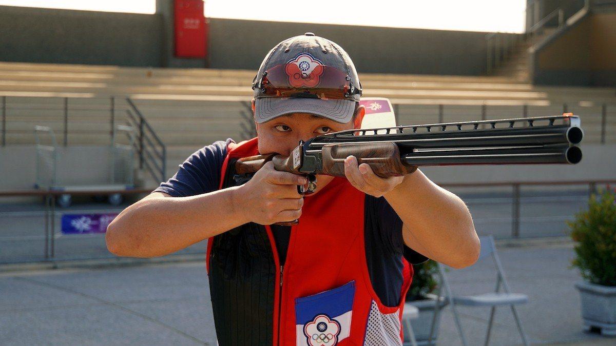 亞運國手施榮宏在男子不定向飛靶決賽一路領先,順利守住金牌。圖/主辦單位提供